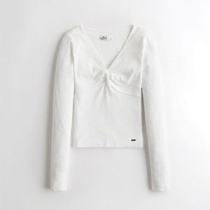 Hollister white top size large